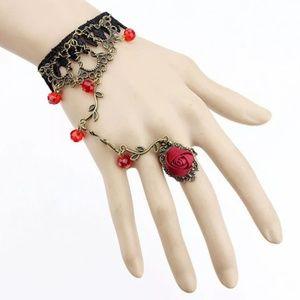 Jewelry - STEAMPUNK..GOTH..ROSE HAND CHAIN